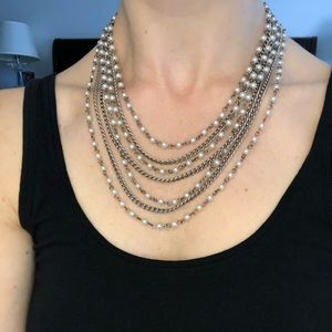 Layered look necklace